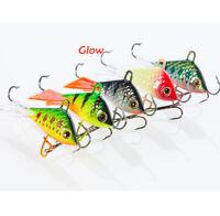 20pcs Soft Baits Fishing Lures Glow Luminous Swimming Soft Jigs Bass Minnow Cran