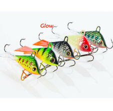 "5pcs Winter Ice Fishing Lures Jigging Swimming Shad Balanced 53mm-2.1""/7.37g"