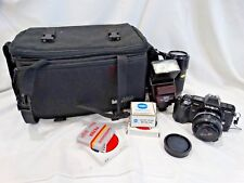 Minolta Maxxum 7000 Camera With Case, 35mm Lens, 70-210 lens, Vivitar Flash+More