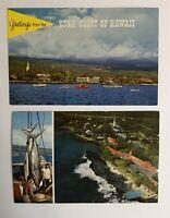 2 Vintage Postcards Hawaii Kailua Kona Nani Li'i Natural Color Cards Unposted
