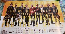 Minnesota Golden Gophers Football 2018 Poster/Schedule, Bowl Win 12/26/18 Nm/Mt.