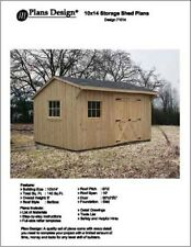 10' X 14' Saltbox Style Garden Storage Shed Project Plans - Design # 71014