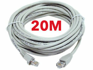 20m Network Ethernet RJ45 Cat5E PATCH Cable Lead Network Sky Modem LAN Router