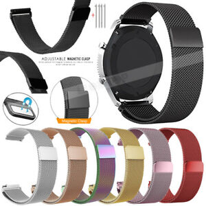 22mm Milanese Loop Magnetic Stainless Steel Watch Band Quick Release Strap Bands