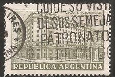 "Argentina Stamp-Scott #480/A176 1c Pale Olive ""Postal Savings Bank"" Used/LH 1942"