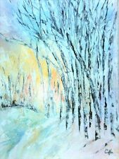 """Orig. Water Color Painting  """"FIRST LIGHT IN THE MORNING""""  Artist Signed 22""""x 30"""""""