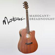 MARTINEZ MDC-15-MOP DREADNOUGHT MAHOGANY ACOUSTIC-ELECTRIC CUTAWAY GUITAR