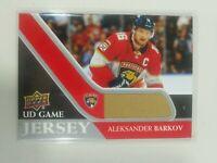2020-21 Upper Deck Series 1 Aleksander Barkov UD Game Jersey Florida Panthers