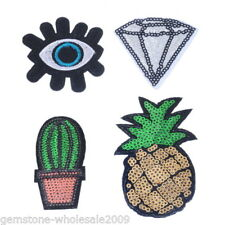 1Set New Fashion Cute Diamond Angel Eye Cactus Pineapple Paste Cloth Diy Gw