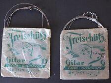 ?Freischütz Gitar SAITEN D + E Elite-Grünkopf alt 2 Stück sammeln Original TOP