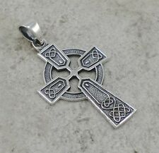 EXOTIC .925 STERLING SILVER CELTIC KNOT CROSS PENDANT  style# p0855