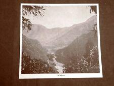Veduta del 1916 Val d'Astico o Valle d'Astico Trentino Alto Adige