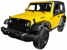 2014 JEEP WRANGLER WILLYS YELLOW 1:18 DIECAST MODEL CAR BY MAISTO 31676