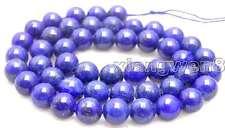 "SALE Big 10mm Round Blue natural lapis lazuli loose beads loose strand 15""-lo630"