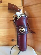 Western Leather Gun Holster Single&double Action Revolver Sass