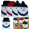 Christmas Chair Back Cover Snowman Red Hat Decoration Dinner Table Party