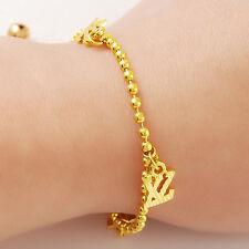 Beads Chain Unisex Bracelet 7.6inch Gjh087 24K Gold Plated Letter X Z Pendant