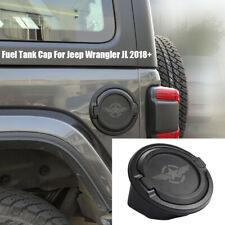 Gas Cap Cover Fuel Filler Door Locking Tank Cap for Jeep Wrangler JL 2018+ Black