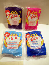 1998 Barbie Dolls McDonald's Happy Meal Toys Complete Set of 4, Brand New Sealed
