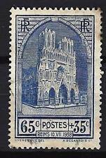 France 1938 Cathédrale de Reims Yvert n° 399 oblitéré 1er choix (2)