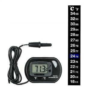 Fish Tank Aquarium Thermometer Digital/Analogue Temperature Gauge Glass Stick