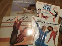 Exercise/ Aerobics LP Lot: Jane Fonda/ Debbie Drake (Disco Soundtracks) VG+- NM