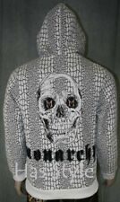 MONARCHY Men's Crackle Skull Hoodie sweatshirt NEW L