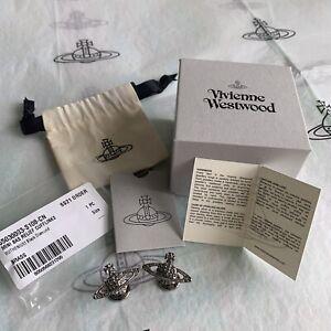 Authentic Vivienne Westwood Mens Mini Bas Relief Cufflinks ~ Gunmetal ~ RRP £75