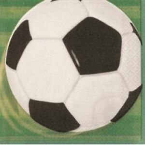 3D Soccer Ball Theme Serviette/Napkins 2 Ply 16 Pack-Ideal for World Cup Parties