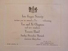 1934 Jota Kappa Sorority Tee Begrüßung Towers Hotel 27th ST Brooklyn NYC