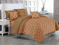 Trance Home Linen Cotton 200TC Printed Single Fitted Bedsheet 1 Pillow Cover