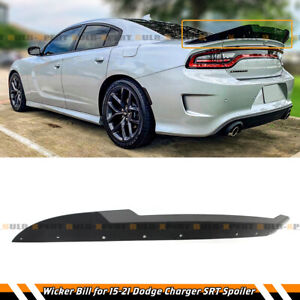 3pcs Wicker Bill Gurney Flap For 2015-2021 Dodge Charger SRT Scat Pack Hellcat