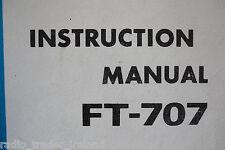 YAESU FT-707 (GENUINE INSTRUCTION MANUAL ONLY)...........RADIO_TRADER_IRELAND.