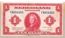 NETHERLANDS BANKNOTE 1 P64 1943 GVF - aEF