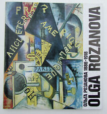 RUSSIAN AVANT-GARDE ARTIST OLGA ROZANOVA ILLUSTRATED ART ALBUM book