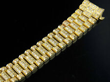 Ladies President Diamond Watch Band for Rolex Day-Date in 18K Yellow Gold 5.5 Ct