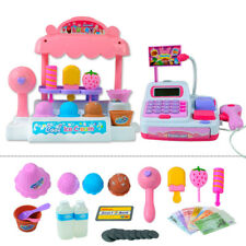 UK Pretend Play Ice Cream Store Cash Register Set Kids Role Play Game Toy Gift