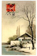 CPA Fantaisie Viennoise Joyeux Noël Paysage fantasy postcard