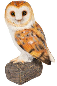 Barn Owl Ornament Garden Home Lifelike Resin Statue Figurine Frostproof 24cm