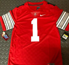 Ohio State Buckeyes Justin Fields Mens Limited Jersey Throwback Red Blackout #1