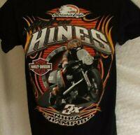 Harley Davidson Andrew Hines 4X NHRA Champion Screaming Eagle  T-Shirt ~ Size S