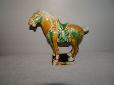 """Chinese?? Antique Vintage Tang Style 3 Color Porcelain Pottery Horse Statue 6.5"""""""