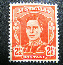 1942 Australian King George VI 21/2d scarlet postage stamp