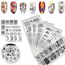 BORN PRETTY Spring Series Nail Art Stamping Schablonen Blumen Image Stamp Plates