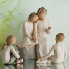 Willow Tree Grandmother with Three Granddaughters Figurine Gift Set Family Group