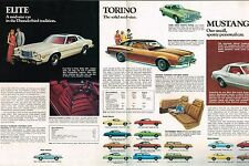 1975 FORD Brochure : THUNDERBIRD,LTD,MUSTANG II,T-BIRD,PINTO,MAVERICK,ELITE,