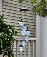 Glass Globe LED Solar Light Mobile Porch Patio Garden Outdoor Decor Clear Multi