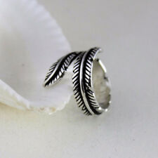 New Feather Arrow Silver Plated Fine Jewelry For Women Gift Opening Rings
