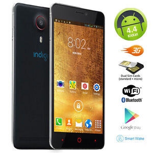 """5.5"""" 3G Unlocked Android Smartphone Cell Phone GPS WiFi AT&T Straight Talk 2 SIM"""