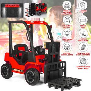 Kids Electric Forklift Children's Ride-on Forklift RC Truck W/Music Horn New